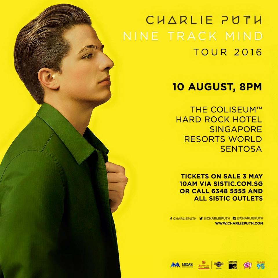 charlie puth Waner Music Singapore