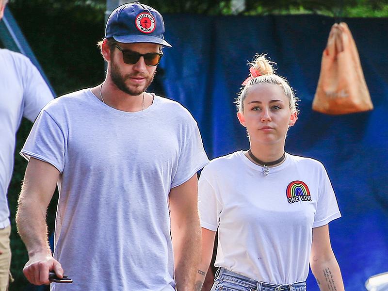 Miley Cyrus and Liam Hemsworth in Byron Bay