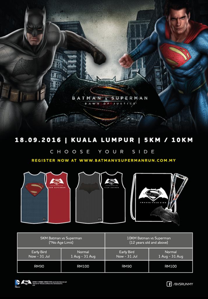 Batman v Superman Run Malaysia