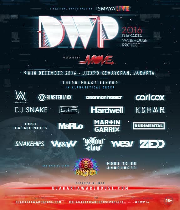 DWP 2016 Line Up