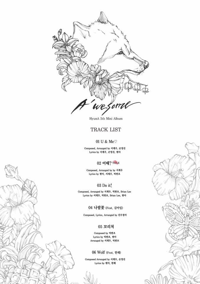 Source: HyunA's Facebook Page