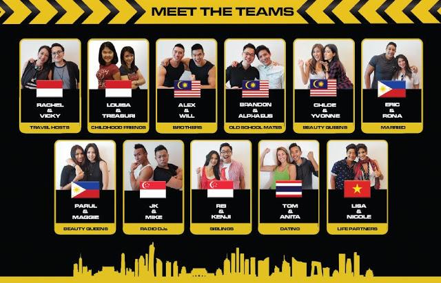 The 11 Teams of The Amazing Race Asia Season 5