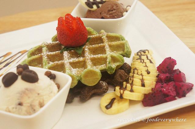 green tea waffles