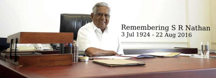 Source: Remembering SR Nathan