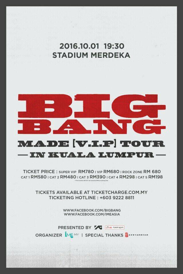BIGBANG MADE VIP Tour In Kuala Lumpur