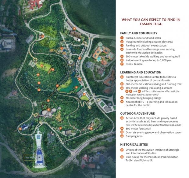 Taman Tugu masterplan (Source: Khazanah Nasional)