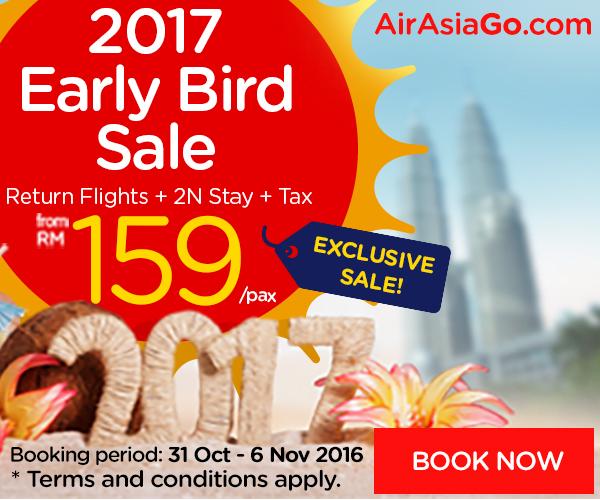 AirAsiaGo.com's 2017 Early Bird Sale