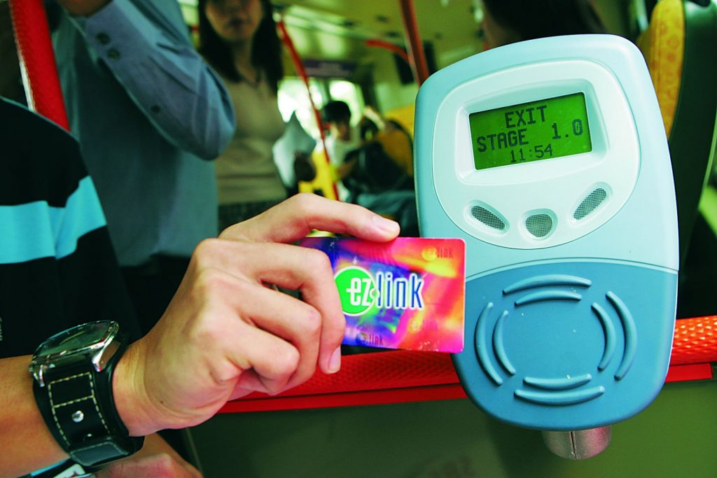 Singapore's EZ-Link card, is a contactless smart card used for the payment of public transportation fares. (Source: TODAY Online)
