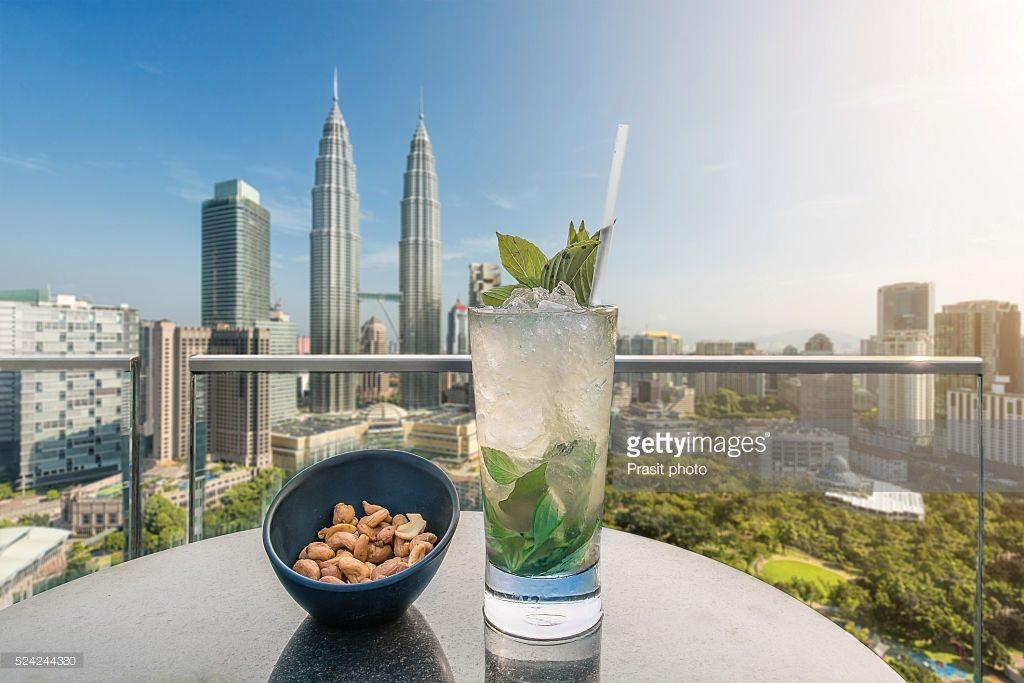 rooftop bar at Kuala Lumpur, Malaysia