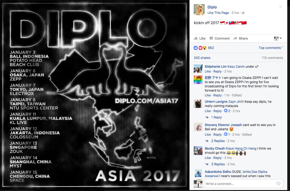 Diplo KL Live 2017