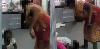 Elderly Woman Abuse Child