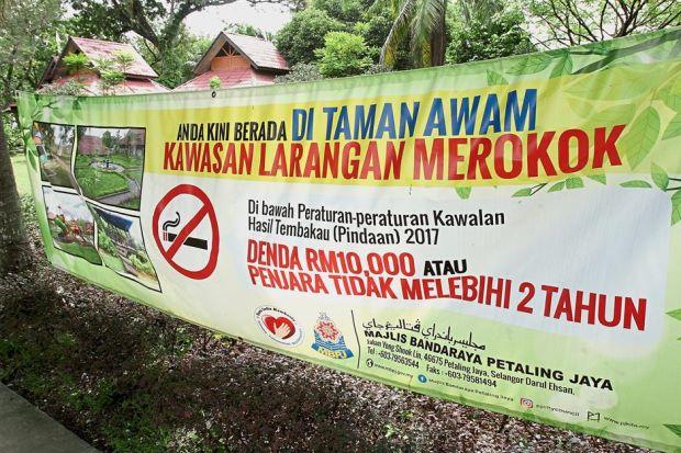 Smoking Ban Selangor Parks
