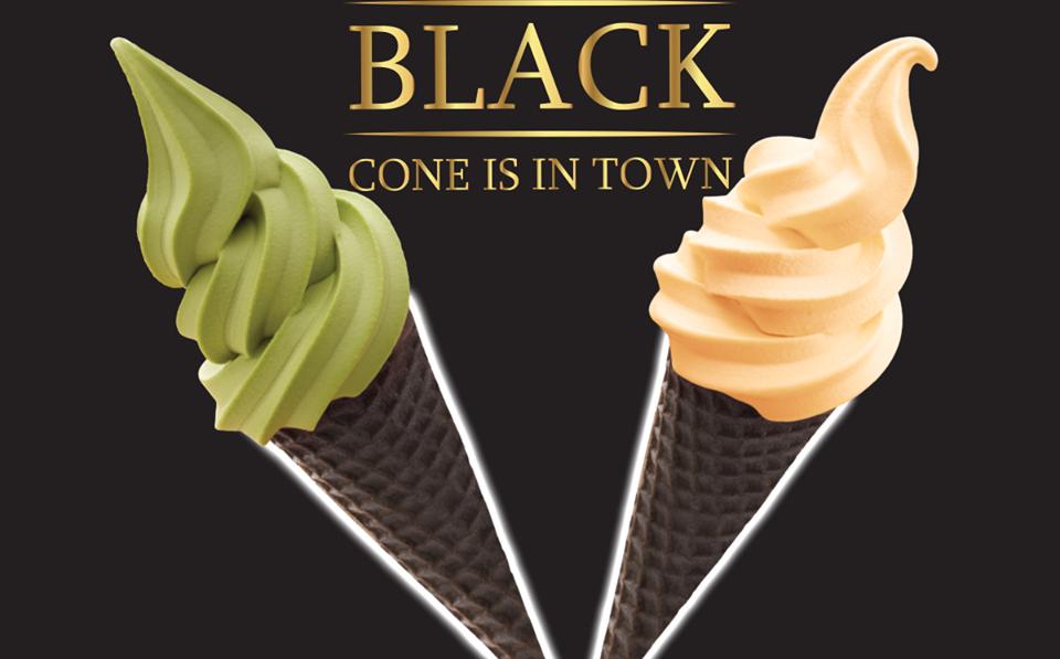 Black Cone Ice Cream