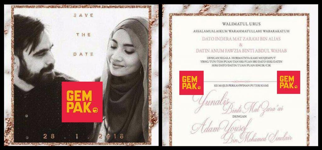 Yuna Wedding Card