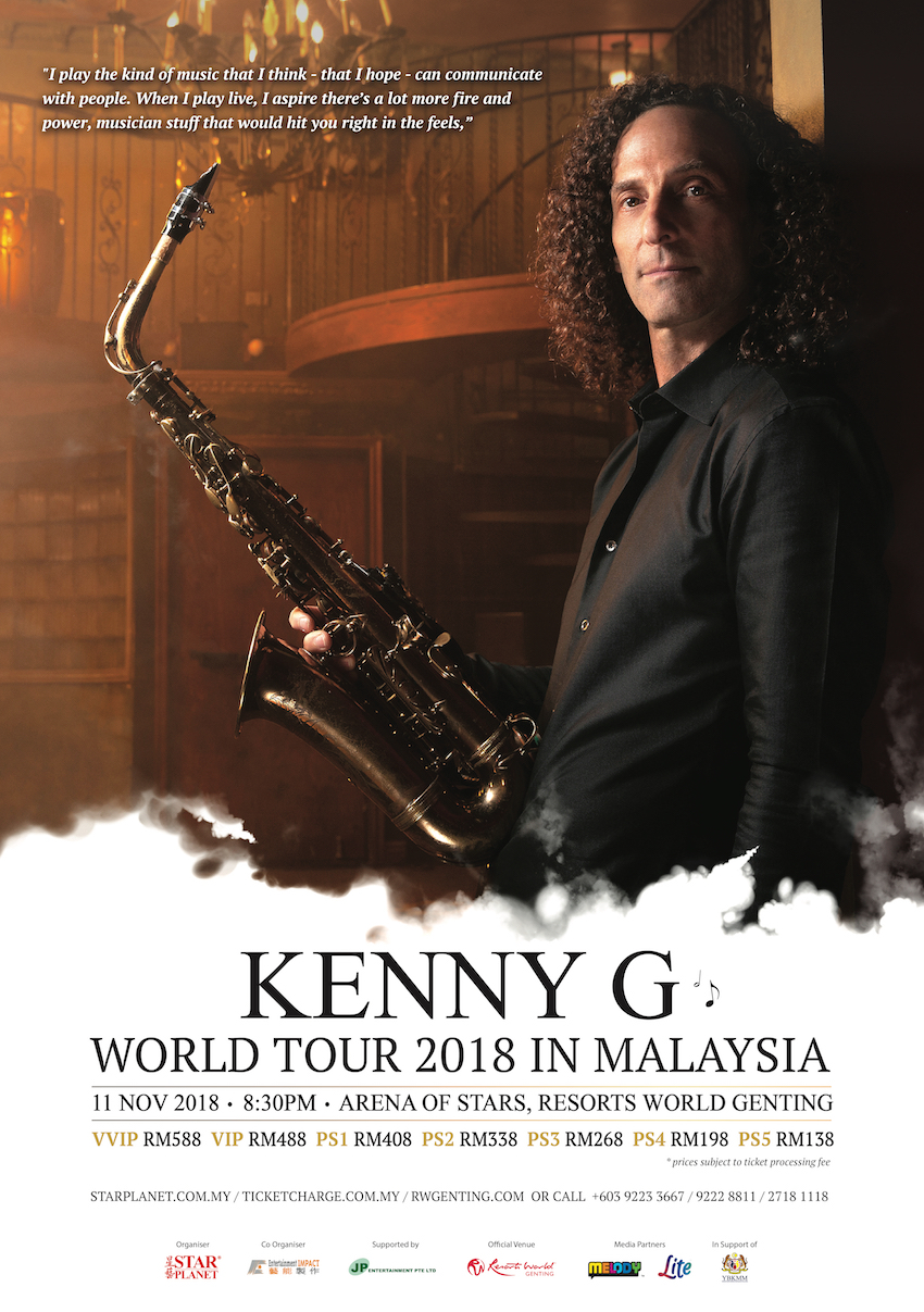 Kenny G To Bring 2018 World Tour To Malaysia This November