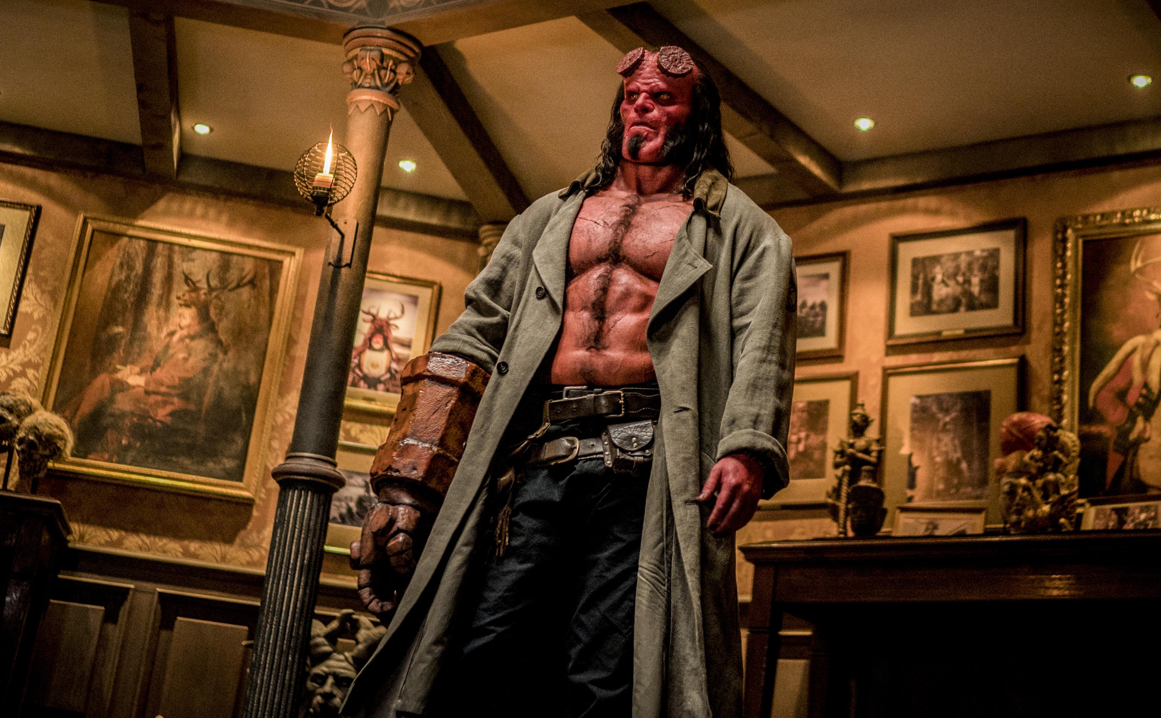 David Harbour stars as 'Hellboy' in HELLBOY.Photo Credit: Mark Rogers.