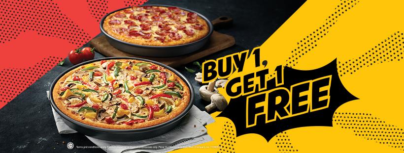 Pizza Hut Malaysia Offers Buy 1 Free 1 Promo