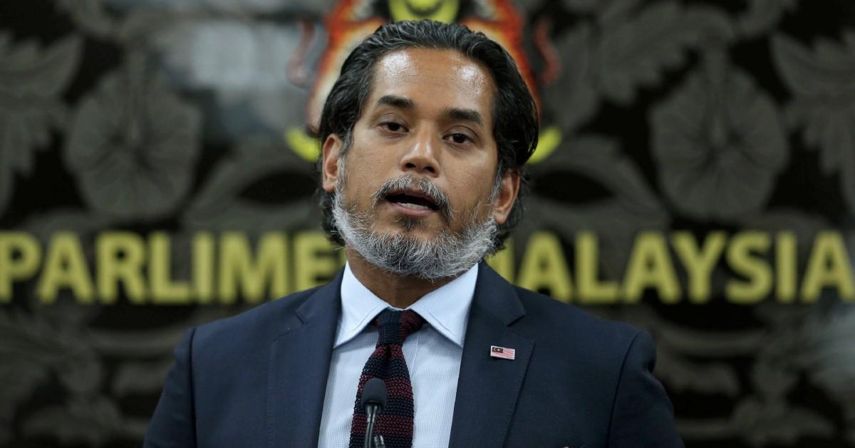 KUALA LUMPUR 14 JULAI 2020. Menteri Sains, Teknologi dan Inovasi, Khairy Jamaluddin, ketika sidang media sempena persidangan Dewan Rakyat di Bangunan Parlimen, Kuala Lumpur. NSTP/MOHAMAD SHAHRIL BADRI SAALI